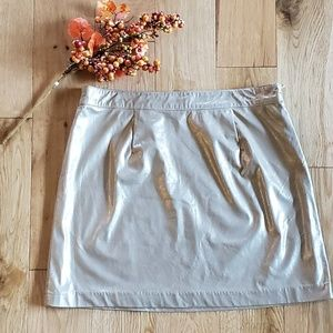 Sam Elderman Gold Metallic Mini Skirt